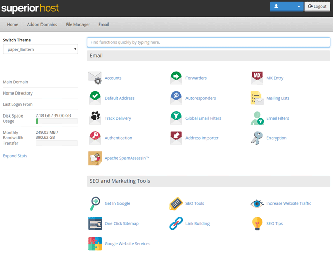 cpanel_Screenshot